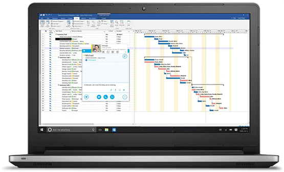 microsoft project viewer in action